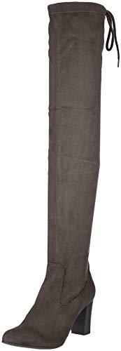 CAPRICE Damen 25504 Stiefeletten, Grau (Dk Grey Stretch 250), 38 EU - Overknee-stretch-stiefel Reißverschluss