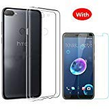 For HTC Desire 12 Plus Case with Screen Protector - Full Coverage Soft