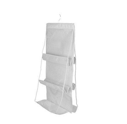 Dasuke 6tasca organizer grande trasparente borsetta borsa portaoggetti da appendere nell' armadio (bianco) by chinatera