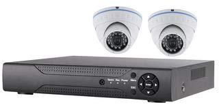 Dvr Security Kit (Defender Security HD KIT 4CH HYBRID DVR 2 Dome CAM 500GB KIT-4CH-2D-5-72)