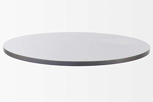 Silberne Tischplatte rund, Holplatte MDF 60 cm, lackiert