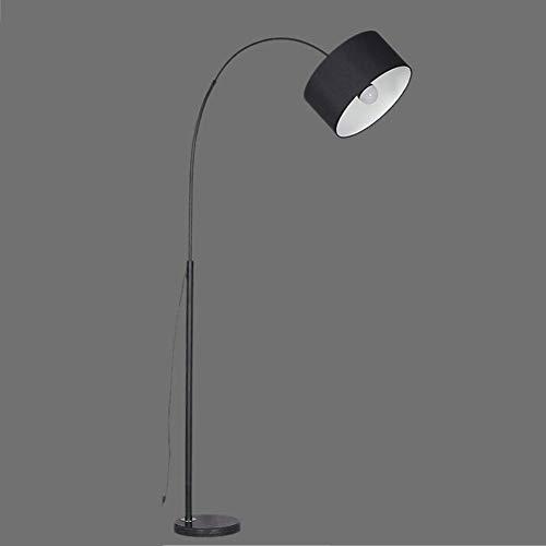 OOFAYWFD Stehlampe,standleuchte-Moderne LED Arc Stehleuchte mit Marmorsockel - Ideal zum Lesen - Freistehend, hinter der Wohnzimmercouch,Black