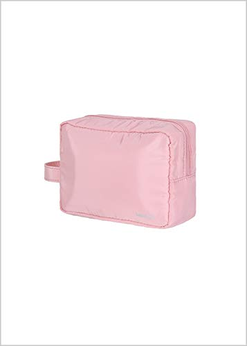MINISO Rectangle Cosmetic Bag Portable Makeup Pouch for Womens Multifunctional Travel Storage Toiletry Bag  Pink