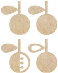 Apples 4/Pkg Wood Flourishes FL397 -