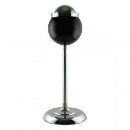 Cendrier noir boule corbeille 15cm pied réglable 60cm telescopique