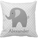 Custom de elefante para guardería habitación Home manta funda de almohada Funda de almohada fundas funda decorativa para sofá 18x 18pulgadas