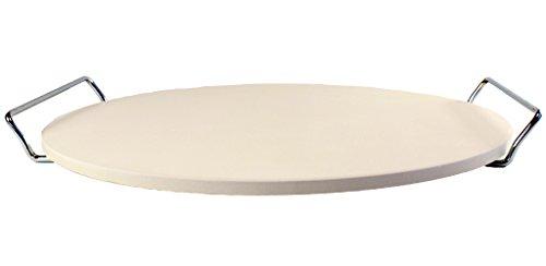 Pizzastein, Brotbackstein, Flammkuchen-Stein rund 33 cm mit Ständer