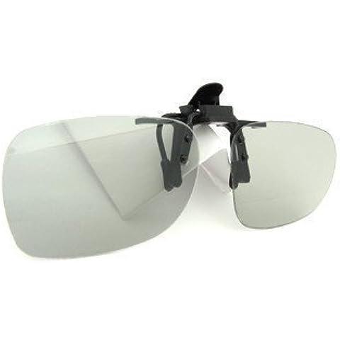 Clip pasiva gafas 3D para cine RealD y televisión LG 3D cinema Philips Easy 3D Toshiba 3D naturales Vizio 3D Glasses Gafas