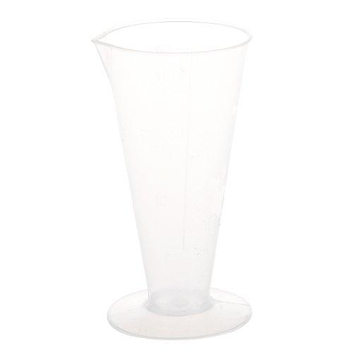 SODIAL(R) 50ml Verre conique de mesure de liquide en plastique