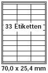 Avery Volle Etiketten Blatt (pripa Etikettenformat 70 x 25,4 mm , 50 Blatt DIN A4 selbstklebende Etiketten)