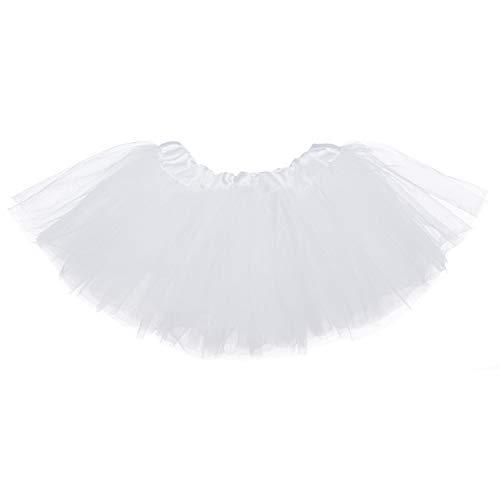 Ksnrang Mädchen Tüllrock Tutu Rock 2-7 Jahre, Minirock 5 Lagen Tanzkleid Dehnbaren Tütü Röcke Ballettrock für Party Halloween Kostüme Tanzen (2-7 Jahre, - Halloween-kostüme 2-3 Alter