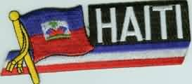 Yantec Sidekickaufnäher Patch Haiti (Haiti Patch Fahne)