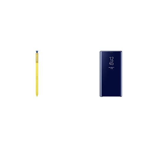 Samsung ej-pn960blegww mit S-Pen Eingabestift Note 9-Blau &  Clear View Hülle 'EF-ZN960' mit Standfunktion für Galaxy Note9, Blau (Samsung Note S-pen)