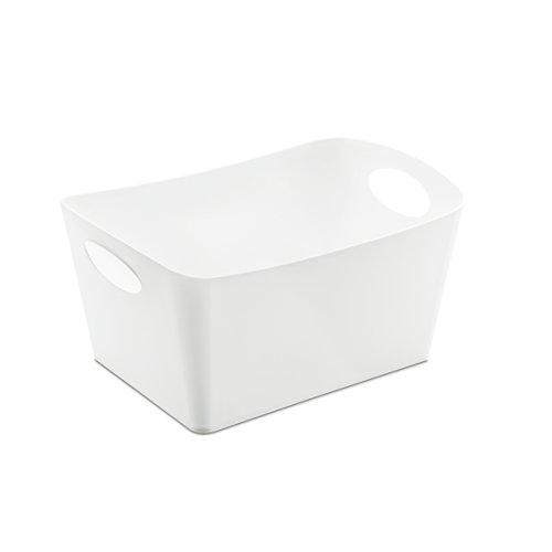Koziol Aufbewahrungsbox 1 L Boxxx S, Kunststoff, solid weiß, 12.8 x 18.7x 10.8 cm (Große Schachteln Box)
