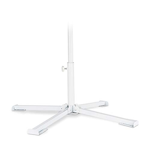 Relaxdays Sonnenschirmständer, Schirmstangengröße 20-38mm, klappbarer Kreuzfuß, Einrastfunktion, stabil, handlich, weiß