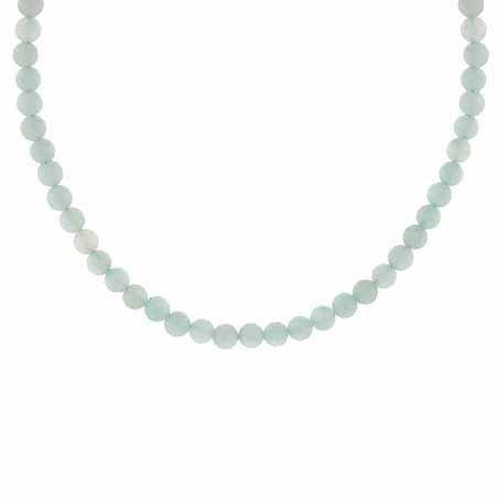 Sterling Silber 4mm Echte Amazonit Stein Perle Perlen Kette 38,1–48,3cm Halskette
