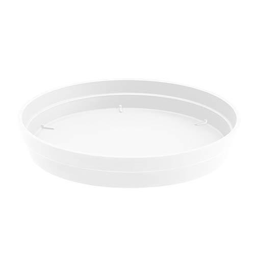 EDA Plastiques Soucoupe Toscane DIAM 28 CM, Blanc, 28x28x4,5 cm