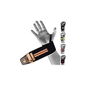 RDX Zughilfen Bodybuilding Handgelenkstütze| Genehmigt von IPL und USPA | Handgelenkbandage Krafttraining Gym Fitness Gewichtheben Zughilfe Klimmzüge Latzughilfe Lifting Straps Griffhilfe (MEHRWEG)