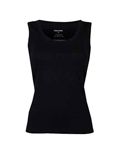 Dilling Thermo Unterhemd für Damen - aus 100% Merinowolle Schwarz 36 -