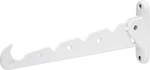 Preisvergleich Produktbild Metafranc Kleiderlüfter weiß - 290 x 30 mm - 20 kg Tragkraft - Stabiles Material - Platzsparende Klappfunktion / Kleiderstange / Wandhaken / Klapphaken / Aufhängevorrichtung / 250037