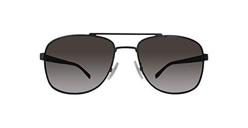 BOSS Hugo Herren 0762/S NR 10G Sonnenbrille, Schwarz (Mtblk Black/Brw Grey), 58