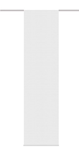 Home Fashion 87378 – 710 – H: 245 x B: 60 cm Panel japonés, Voile de Rayas horizontales, Color Blanco