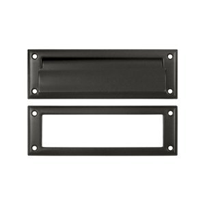 Deltana MS626U10B 8 7/8-Inch Mail Slot with Solid Brass Interior Frame by Deltana