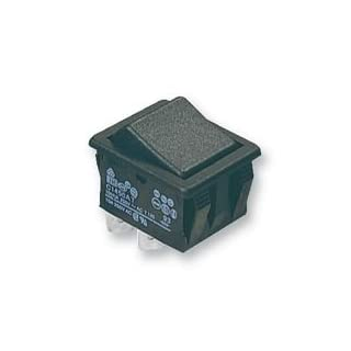 ROCKER SWITCH, DPST, BLACK C1550ATAAD By ARCOLECTRIC
