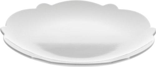 Alessi MW01/5 Dressed, Dessertteller, 4 Stück, Porzellan, weiß White Porcelain Side Plate