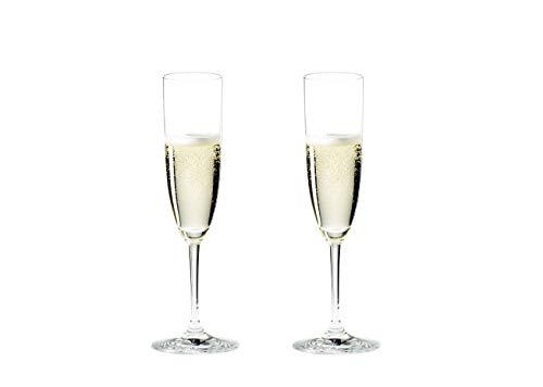 RIEDEL 6416/08 Vinum Champagner Flöte, 2-teiliges Champagnerflöten Set, Kristallglas