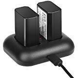 NP-FW50 ENEGON Batterie de Rechange (2 Paquets) et Chargeur Double Rapide pour Sony NP-FW50, Compatible avec Sony NEX série 3/5/7, série SLT-A, série Alpha et Plus