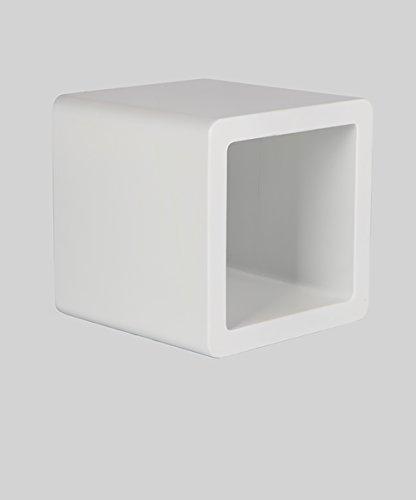 ZEMIN Solide hölzerne kleine quadratische Hocker Nette Kinder Esszimmer Wohnzimmer Studie, 2 Farben, 3 Größen zur Verfügung ( Farbe : Weiß , größe : 32*32*32CM )