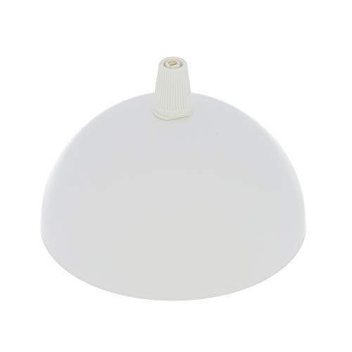 Kit Rosone mezza sfera ø100 h50 mm1 foro - acciaio verniciato bianco opaco