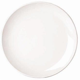 Classique White Rim Assiette plate étroite. Dimensions: 170mm (6,75 \