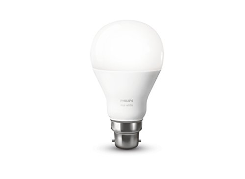 Philips Hue White Personal Wireless Lighting LED B22 Light Bulb, 1 x 9.5 W Bayonet Cap [Apple Homekit Enabled], Works with Alexa Test