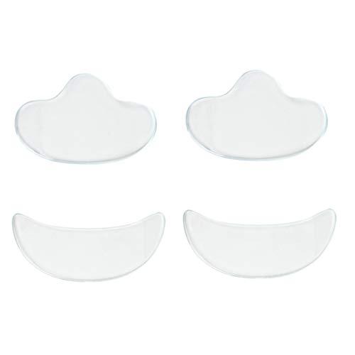 Homyl 4pcs Yeux Masque Anti Rides de Visage Réutilisables Tampons Invisible