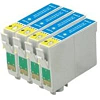 Epson Compatible T0712. 4 x T0712 High Yield (19ml) Compatible Cyan Cartridges