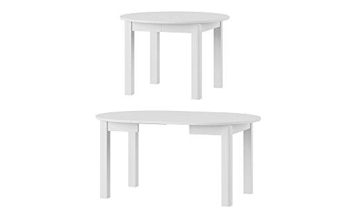MPS praktisch Tisch Uran 110x110 cm Küchentisch Esszimmertisch Esstisch Wohnzimmer Rundtisch 160x110x76 4 Tischfüße Ausziehtisch ausziehbarer Tisch modern