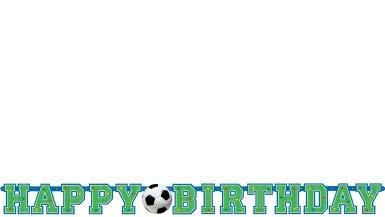 Happy-Birthday-Banner Fußball (Happy Halloween Und Happy Birthday)