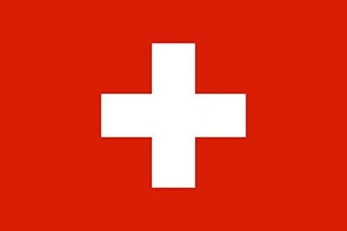 Etaia 5,4x8,4 cm - Auto Aufkleber Fahne/Flagge der Schweiz Suisse Switzerland Flaggen Sticker Motorrad Handy Europa Länder