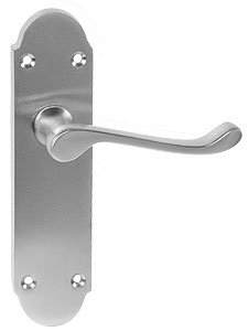 Epsom Door Lever - Latchset - Various Finishes - 170mm x 40mm - from e-Hardware - cheap UK door handle shop.