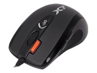 A4Tech Oscar Optical Gaming Mouse X-710MK USB Óptico 2000DPI Negro - Ratón (Óptico, USB, 2000 DPI, Negro)