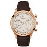 Bulova chronographe Cuir Marron montre homme # Style vintage