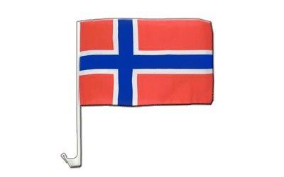 Norwegen Flagge, norwegische Autoflagge - 30 x 40 cm, MaxFlags®