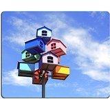 luxlady Gaming Mousepad Bild-ID: 20282568bunt Nistkasten auf Blau Sky
