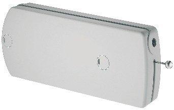 Klappenbeschlag Möbel Klappenhalter mit Seilzug | Modell D - 140 N | Abdeckkappen: grau | Seilzug-Beschlag für Klappengewicht bis max. 9 kg | Möbelbeschläge von GedoTec®