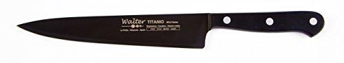 Walter 8417 - Cuchillo cebollero, 20 cm, Titanio Negro