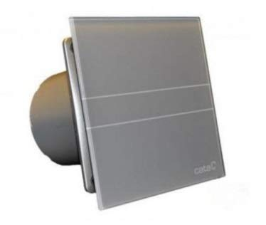 CATA E-100 GS Abluftventilator Wand Silber - Abluftventilatoren (Wand, Badezimmer, Silber, IP44, 10 cm, 31 dB)