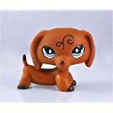 ttlest pet shop Pet Dachshund Dog Collection Child Girl Boy Figure Toy Loose Cute by new brand ()