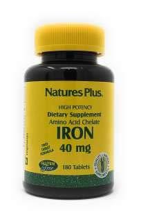 Iron / Eisen Aminosäurechelat 40 mg (2x20mg) 180 Tabletten NP